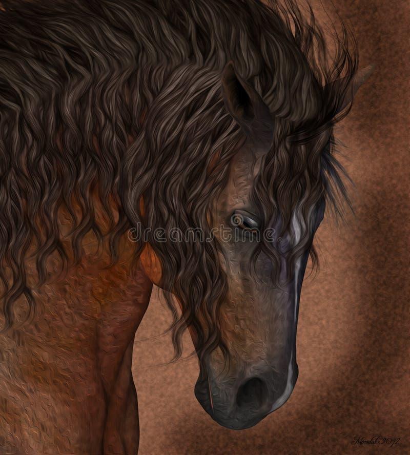 Equine искусство поздравительной открытки/стены лошади иллюстрация штока