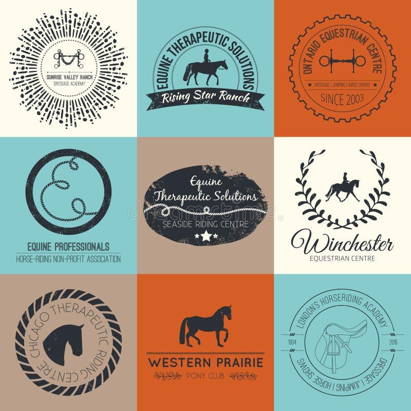 Equine логотип иллюстрация вектора
