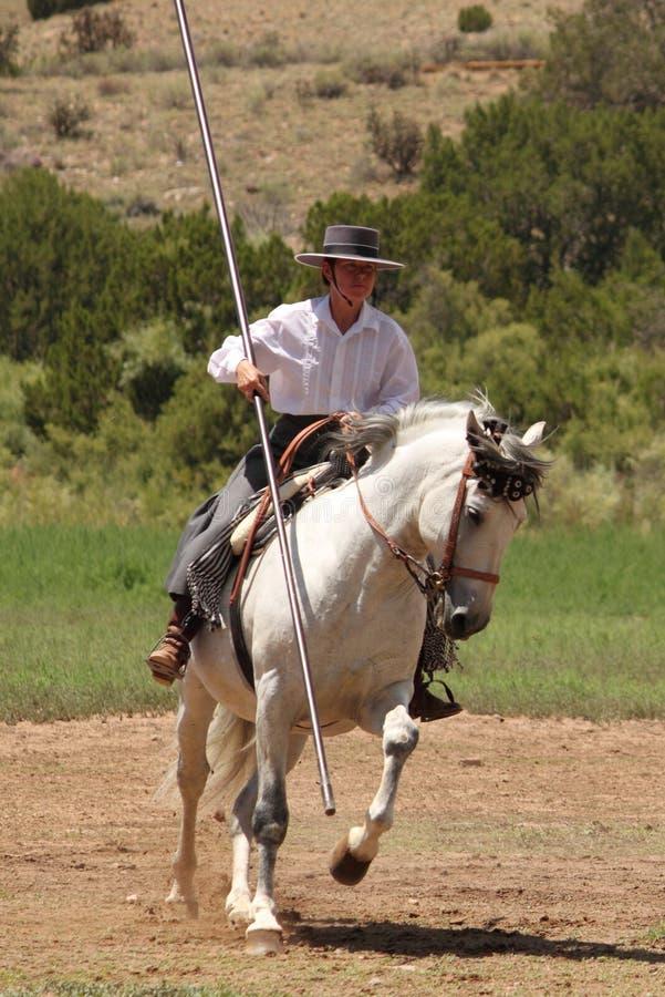 Equine Demonstration Las Golondrinas Summer Fest. royalty free stock image
