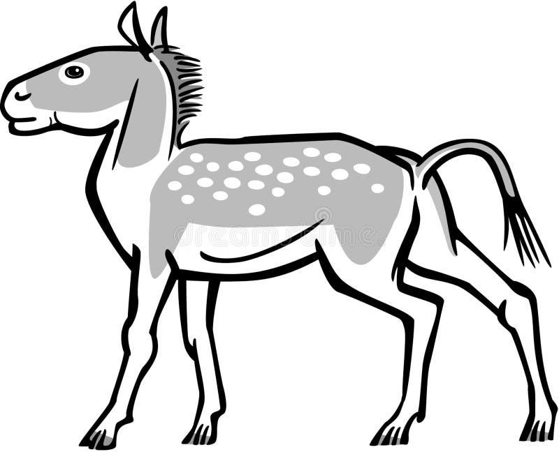 Equino pré-histórico ilustração royalty free