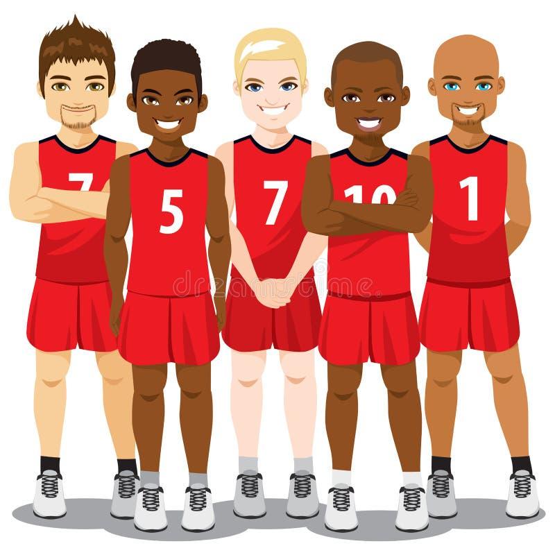 Equipa de basquetebol ilustração stock