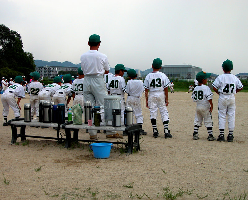 Equipa de beisebol fotografia de stock royalty free