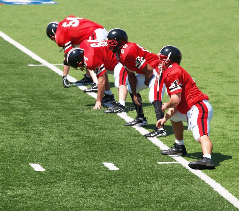 Equipa de futebol da High School de Easton fotografia de stock royalty free