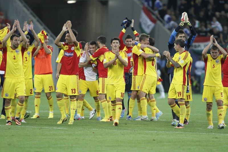 Equipa de futebol do nacional de Romênia imagens de stock royalty free