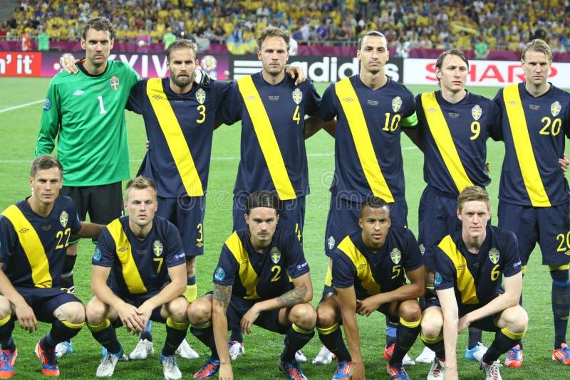 Equipa de futebol do nacional de Sweden imagem de stock