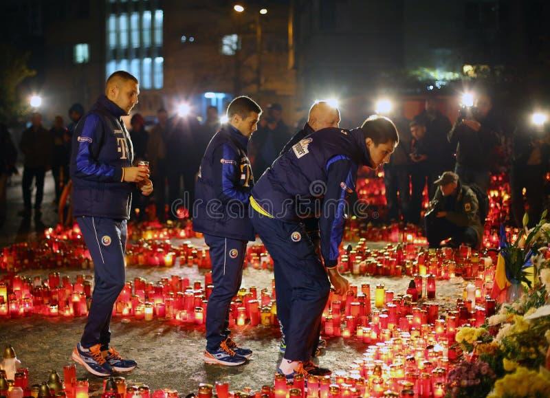 Equipa de futebol nacional de Romênia no clube de Colectiv imagem de stock royalty free