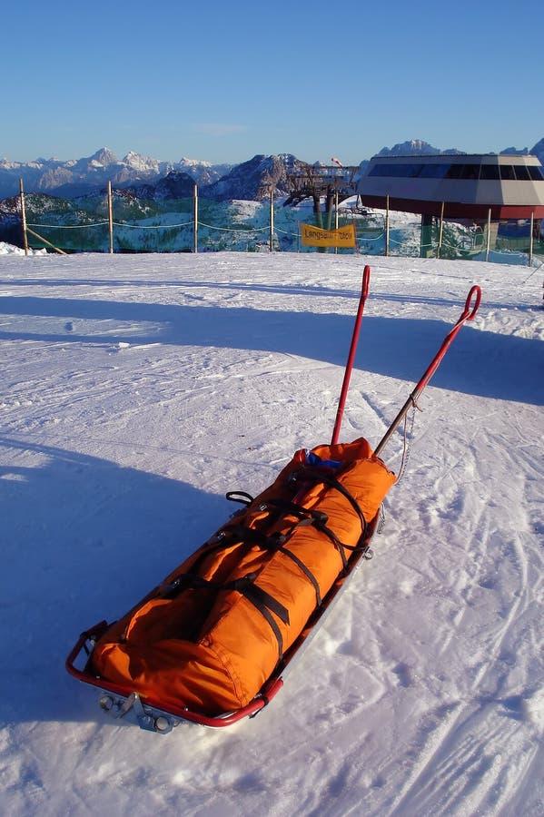 Equipa de salvamento do esqui fotografia de stock royalty free