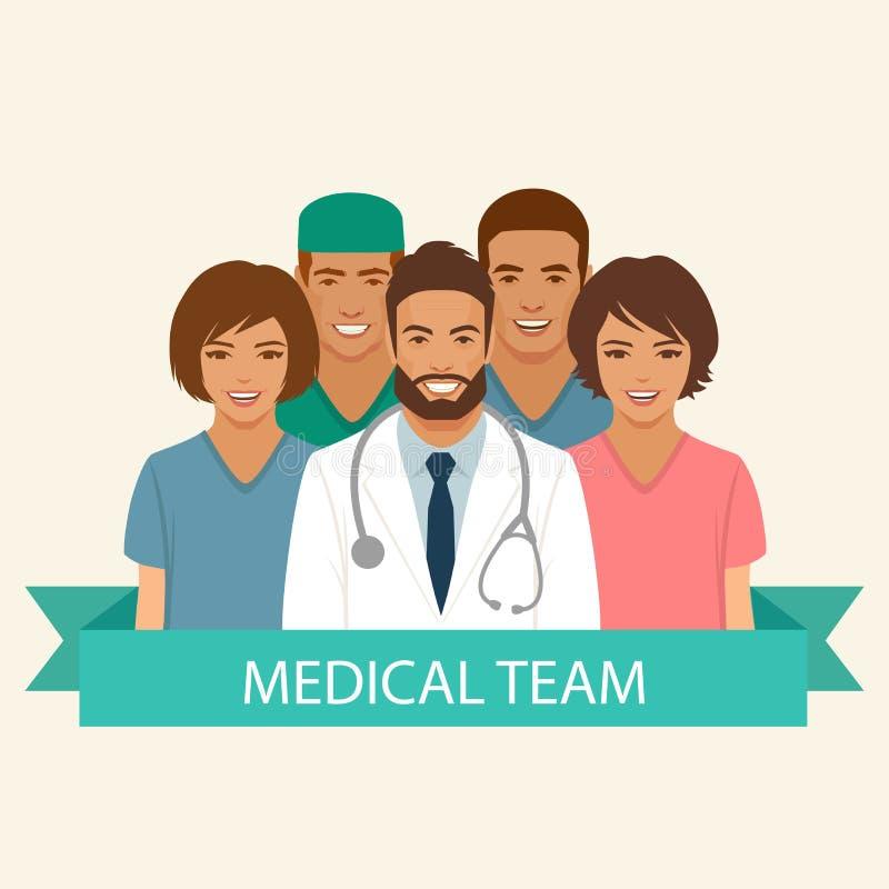 Equipa médica ilustração stock