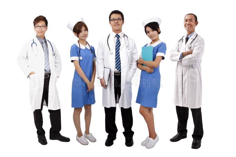 Equipa médica asiática imagens de stock royalty free