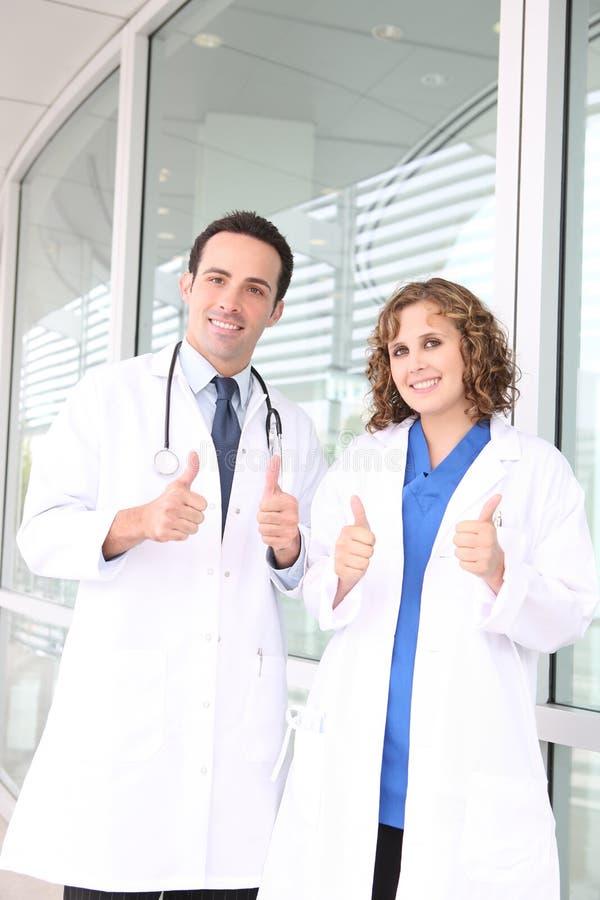 Equipa médica bem sucedida fotos de stock royalty free