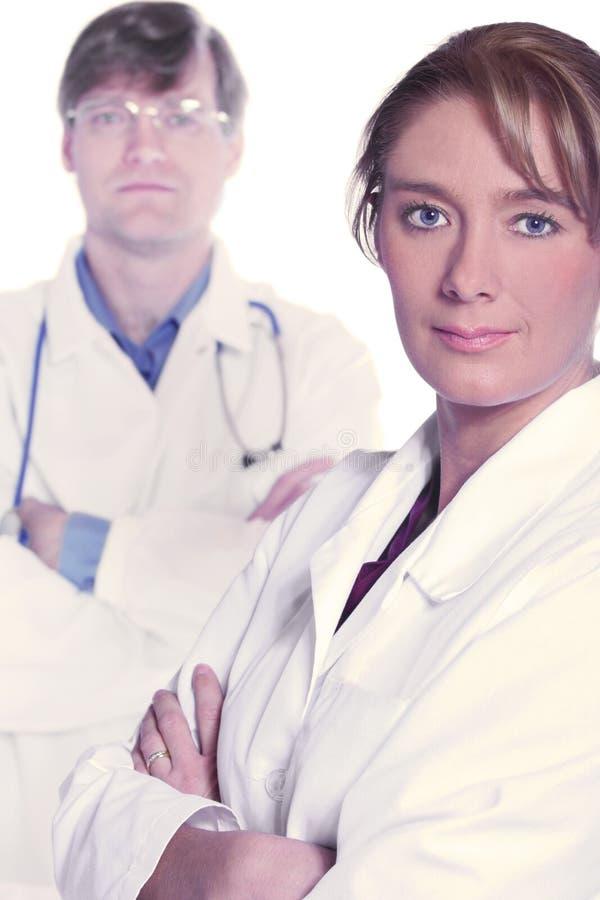 Equipa médica de doutores sérios imagem de stock royalty free