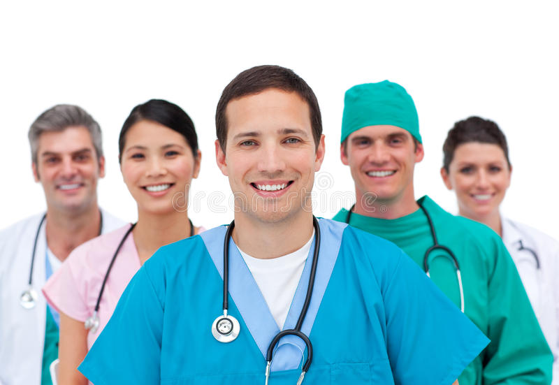 Download Equipa médica de sorriso imagem de stock. Imagem de menina - 12809263