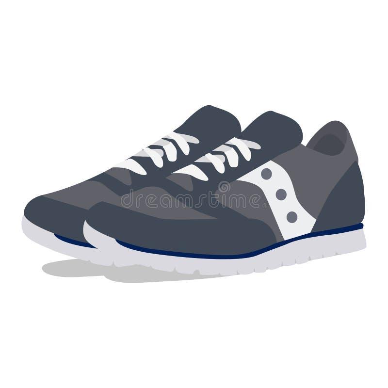 Equipa o ícone do vetor das sapatilhas em um fundo branco Ilustração dos tênis de corrida isolada no branco Calçados do esporte r ilustração do vetor