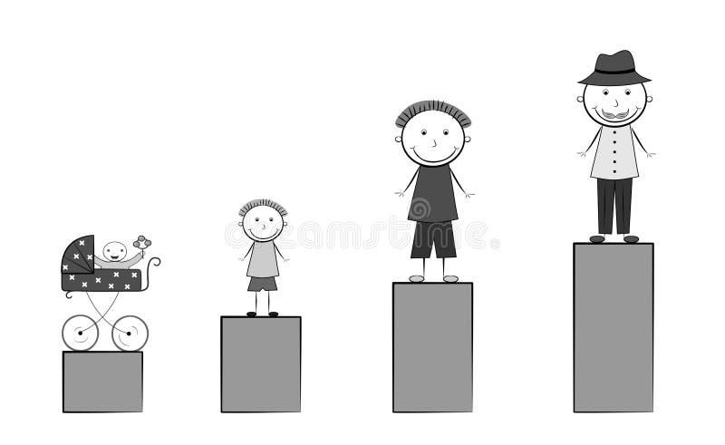 Equipa o preto da vida ilustração stock