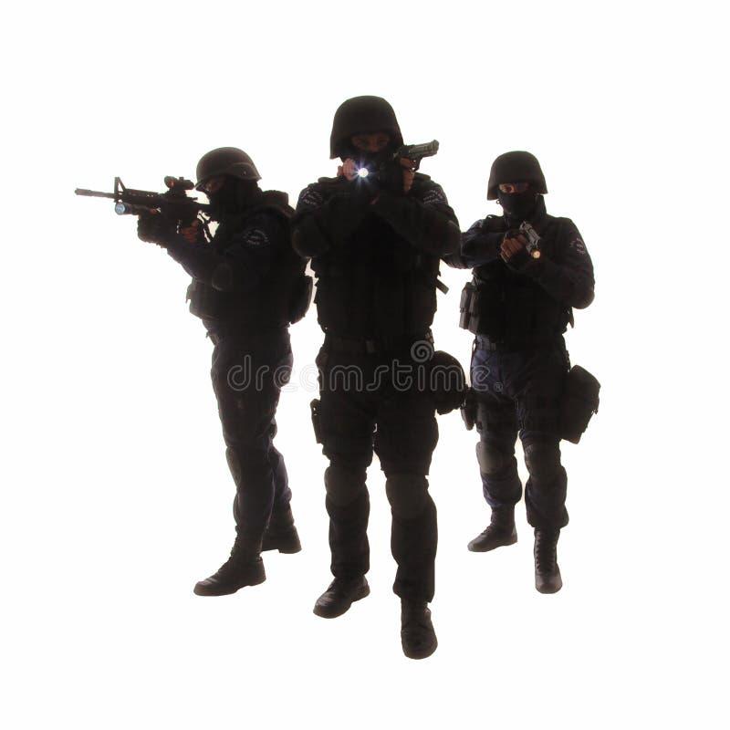 Equipa SWAT foto de stock