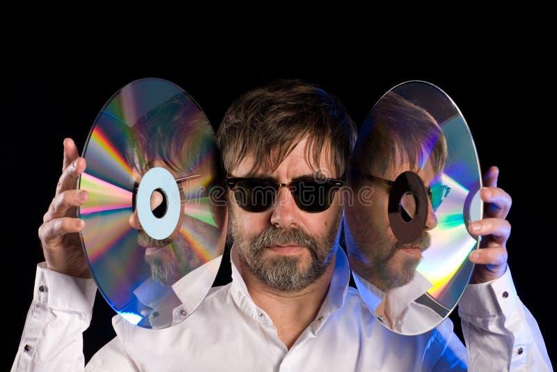 Equipaggi dischi a laser i retro immagine stock