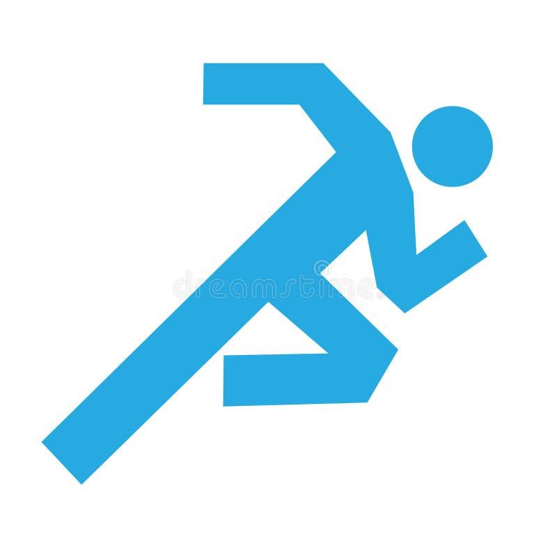 Equipaggi il vettore corrente dell'icona - eseguendo simbolo - concetto di salute royalty illustrazione gratis