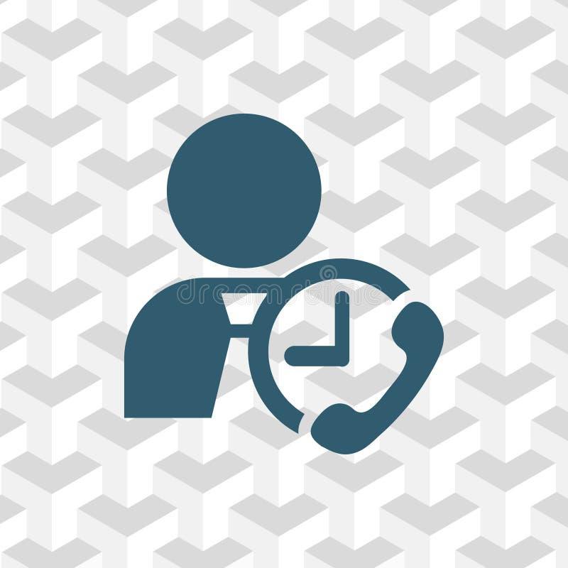 Equipaggi la progettazione piana dell'illustrazione di vettore delle azione dell'icona del telefono dell'orologio illustrazione di stock