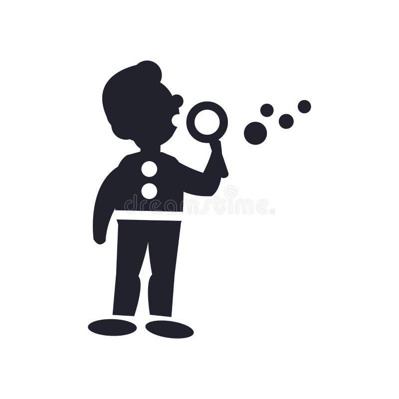Equipaggi rendere il segno ed il simbolo di vettore dell'icona delle bolle di sapone isolati sopra illustrazione vettoriale