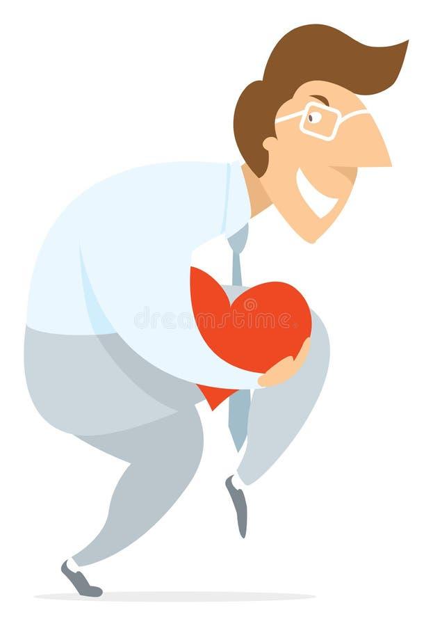 Equipaggi silenziosamente l'azione furtiva che cammina rubando il cuore o l'amore illustrazione vettoriale