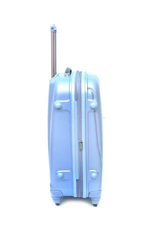 Equipaje azul aislado fotografía de archivo libre de regalías
