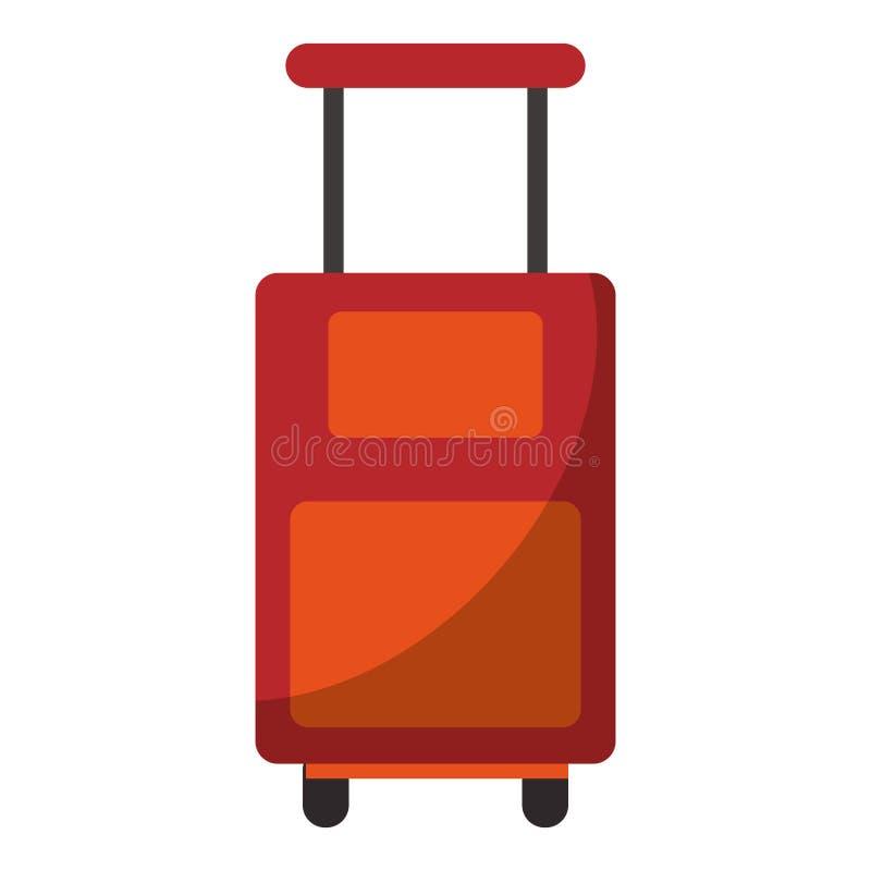 Equipaje del viaje con el ejemplo aislado ruedas del vector libre illustration