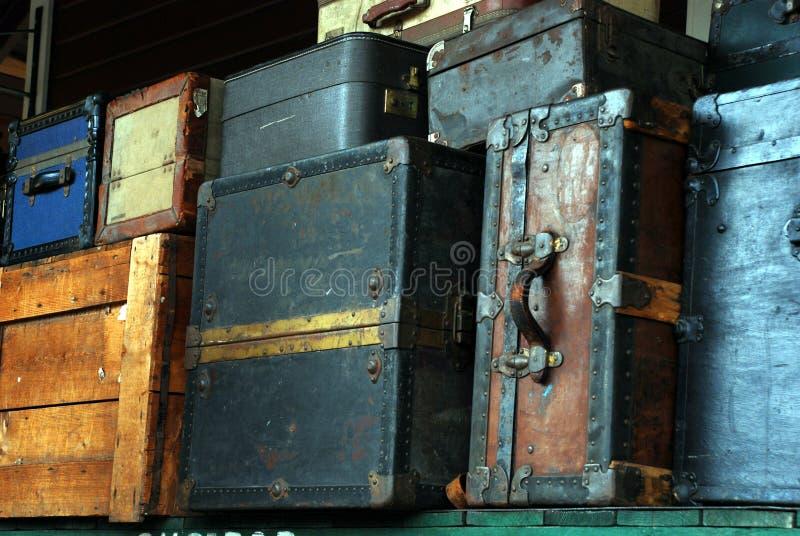 Equipaje viejo foto de archivo libre de regalías