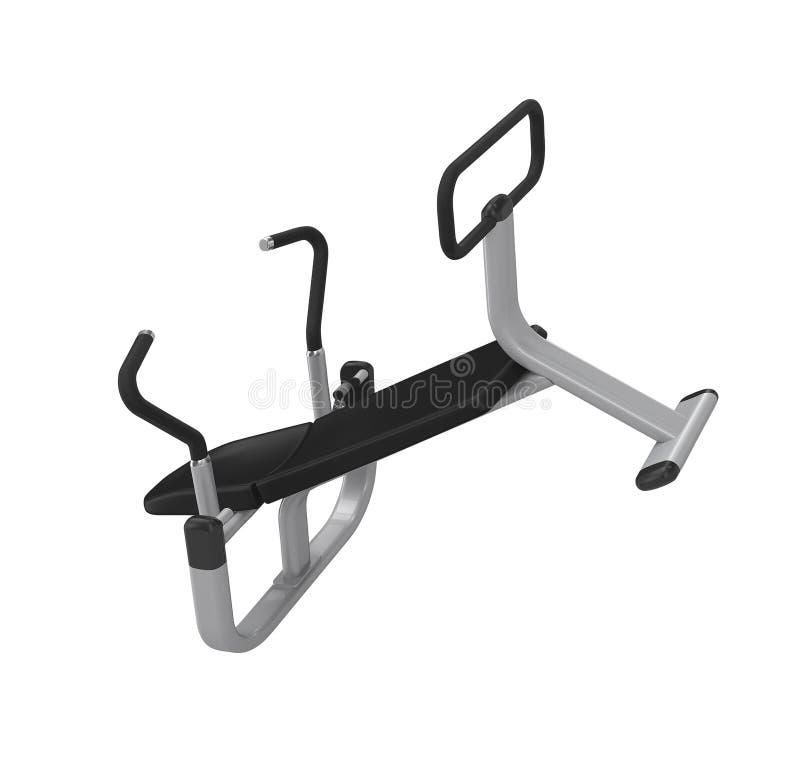 Equipamento abdominal do exercício isolado no branco foto de stock royalty free