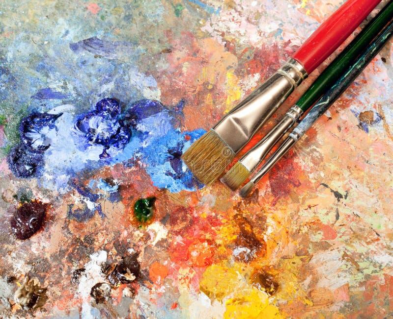Equipamento artístico imagem de stock royalty free