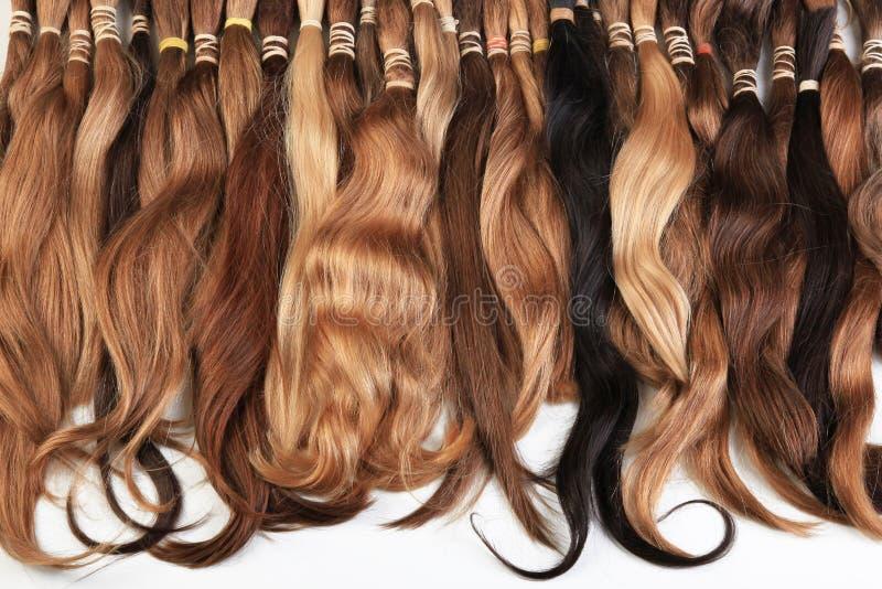 Equipamento da extensão do cabelo do cabelo natural imagens de stock royalty free