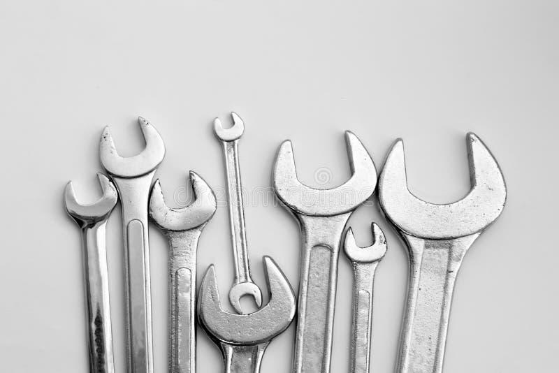 Equipamento da ferramenta da chave fotos de stock royalty free