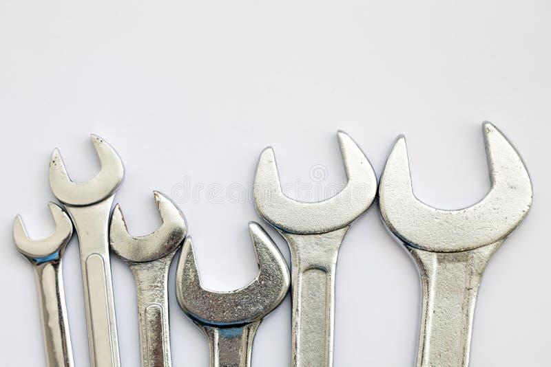 Equipamento da ferramenta da chave fotografia de stock