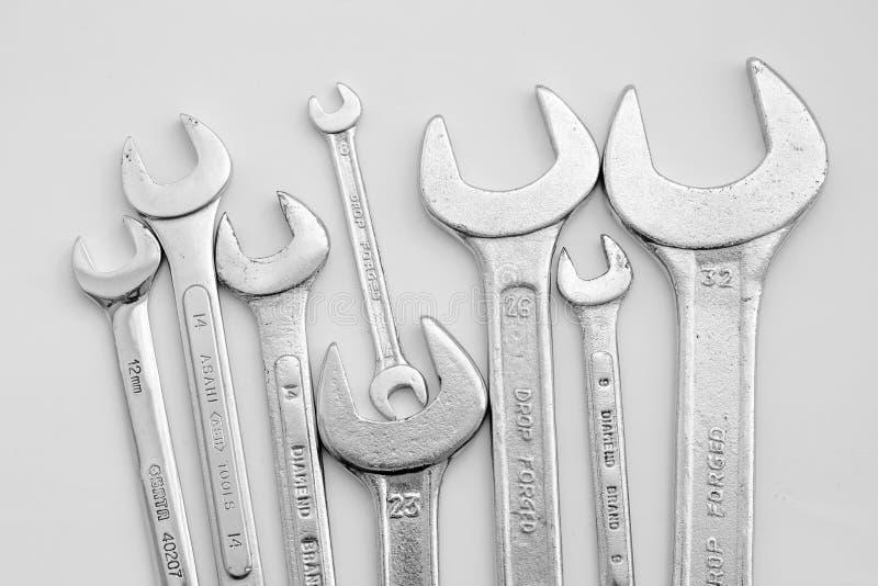 Equipamento da ferramenta da chave imagem de stock royalty free