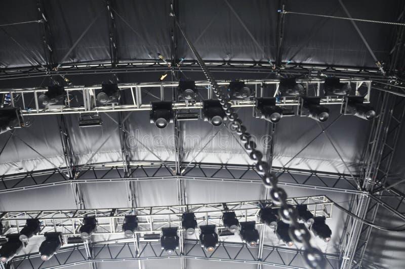 Equipamento da iluminação do estágio foto de stock royalty free