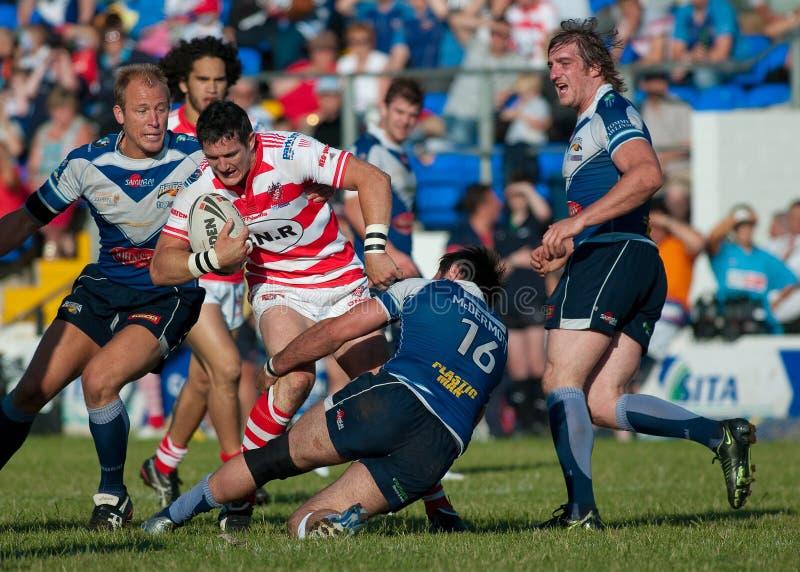 Equipamento da liga do rugby imagens de stock