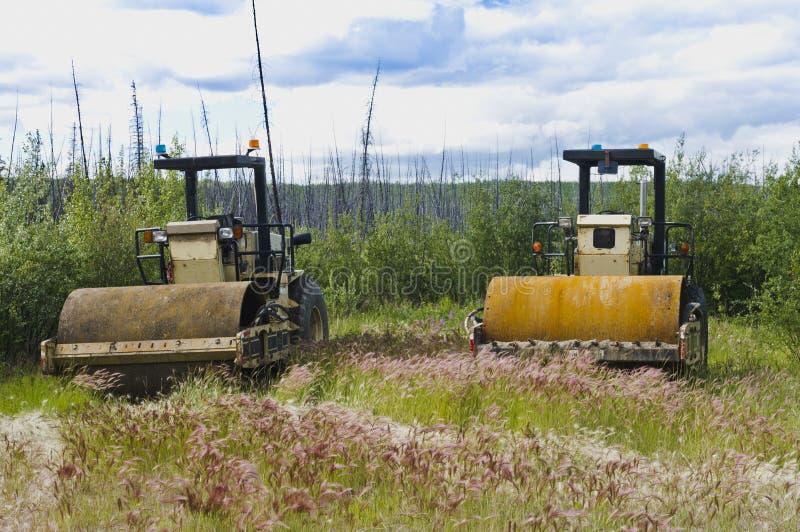 Equipamento da manutenção da estrada de Yukon imagens de stock