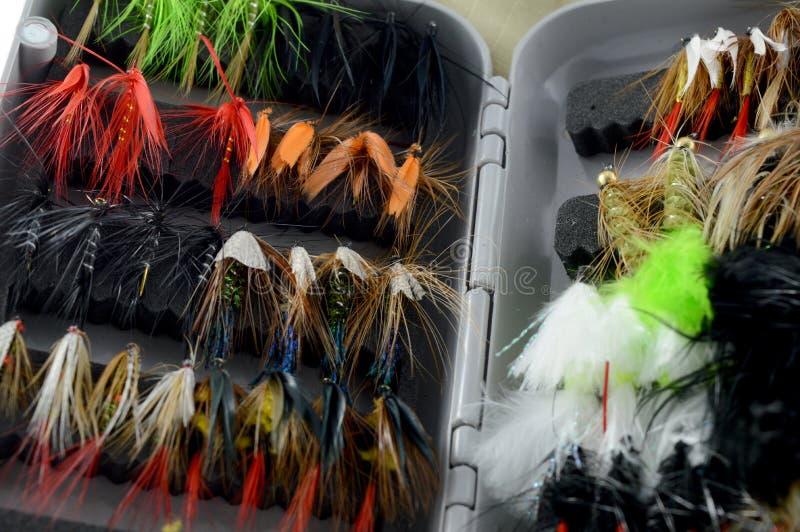 Equipamento da mosca do close up imagens de stock royalty free