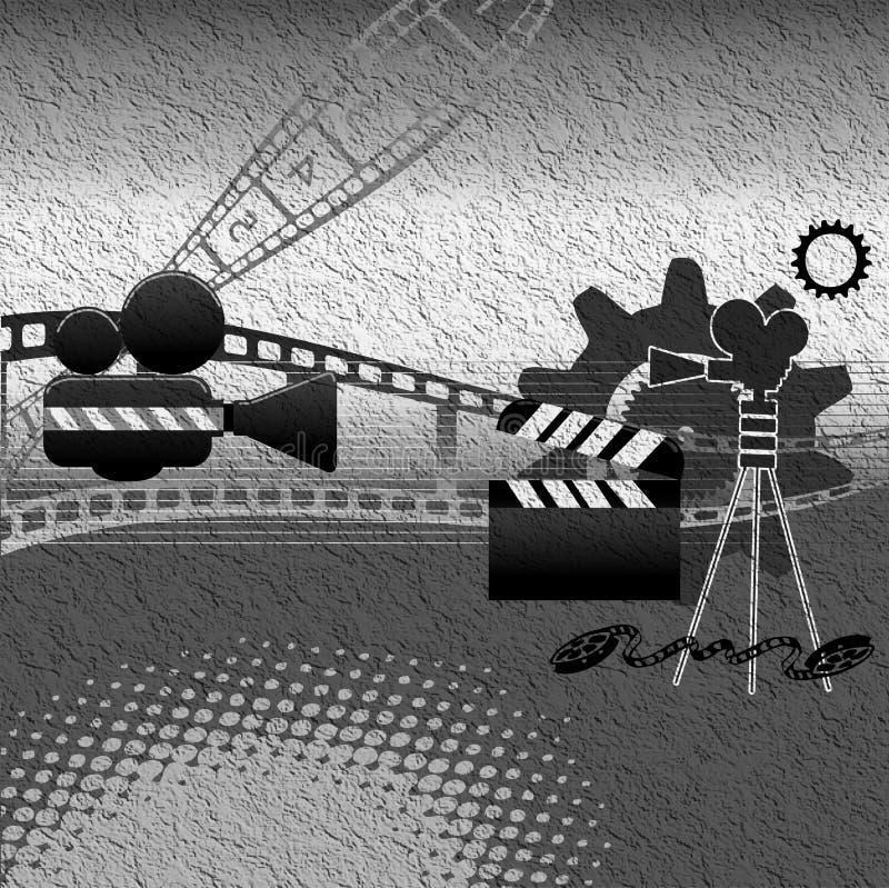 Equipamento da película ilustração do vetor