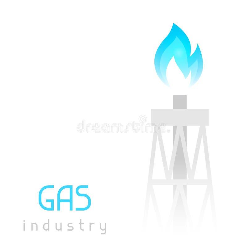 Equipamento da perfuração do equipamento de gás com chama Ilustração industrial ilustração do vetor