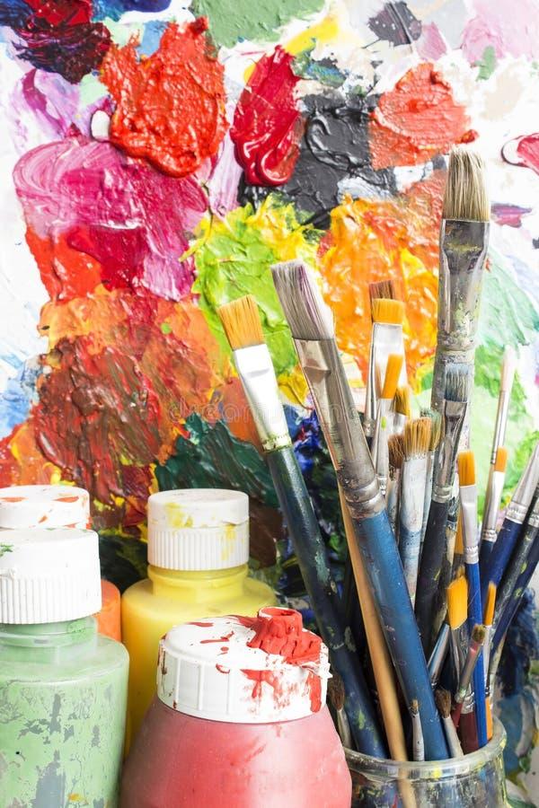 Equipamento da pintura fotografia de stock