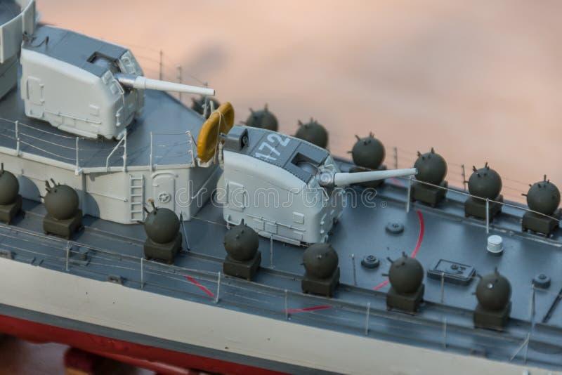 Equipamento da plataforma no navio do modelo à escala imagem de stock royalty free