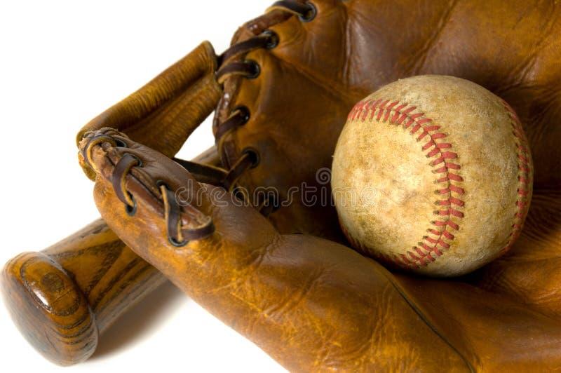 Equipamento de basebol do vintage fotos de stock royalty free