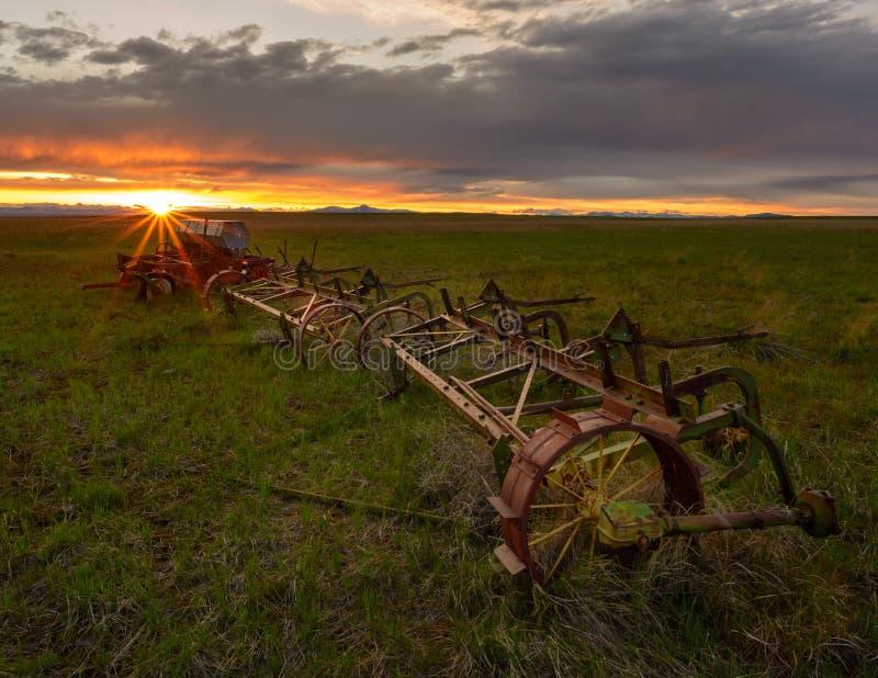 Equipamento de cultivo abandonado fotografia de stock royalty free