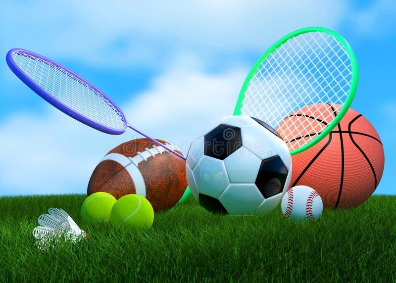 Equipamento de esportes ilustração royalty free
