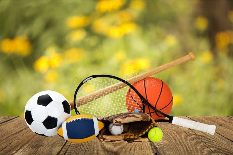 Equipamento de esportes imagens de stock