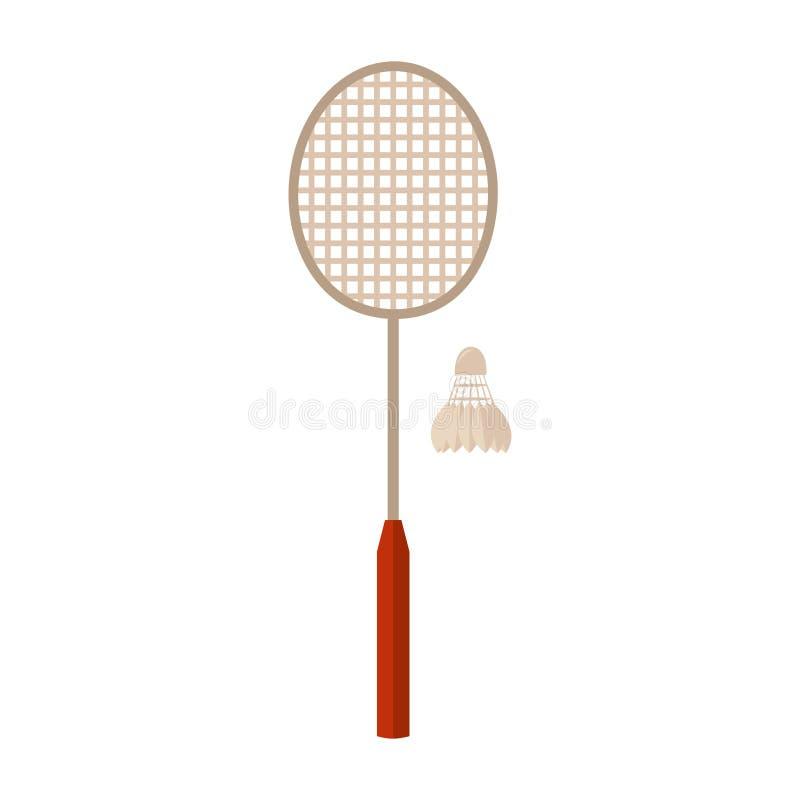 Equipamento de esportes badminton ilustração do vetor