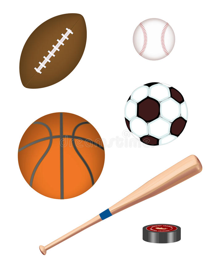 Equipamento de esportes realístico do vetor! ilustração do vetor