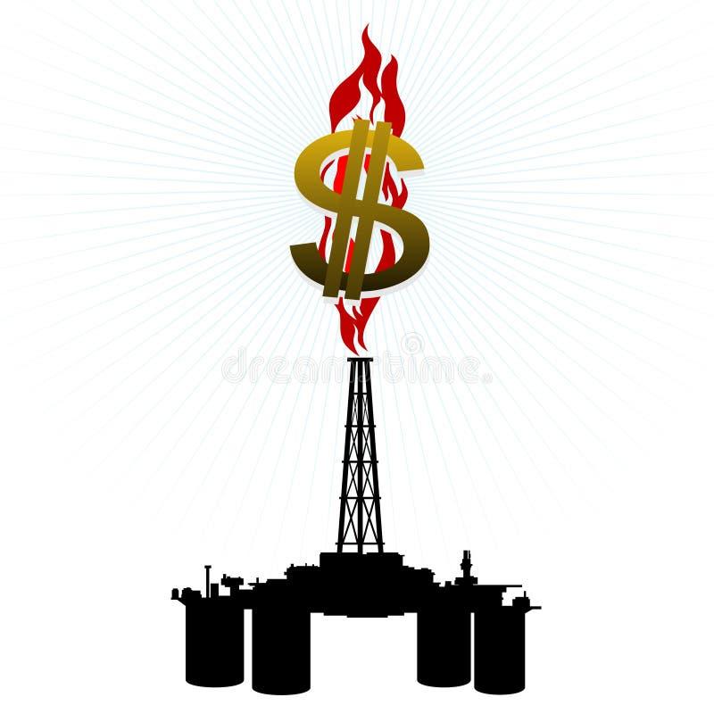 Download Equipamento De Gás E Um Sinal De Dólar Ilustração do Vetor - Ilustração de petrochemical, arquitetura: 26508442
