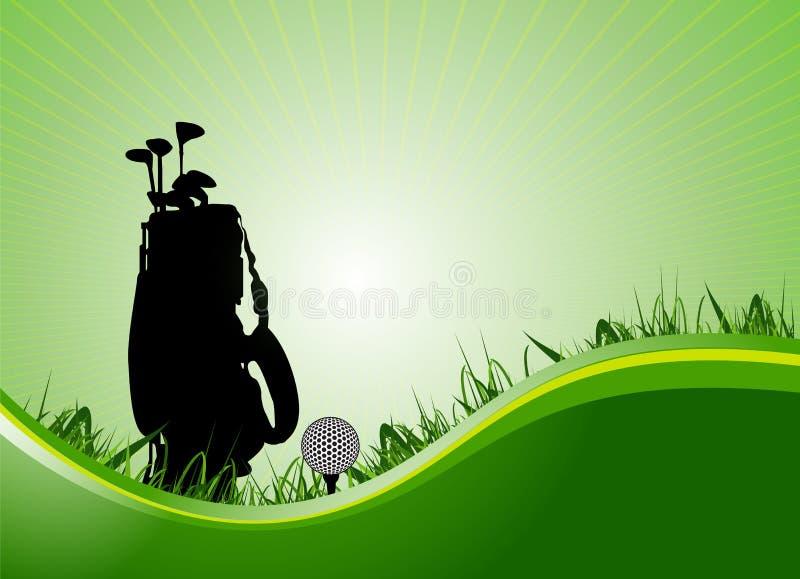 Equipamento de golfe ilustração stock