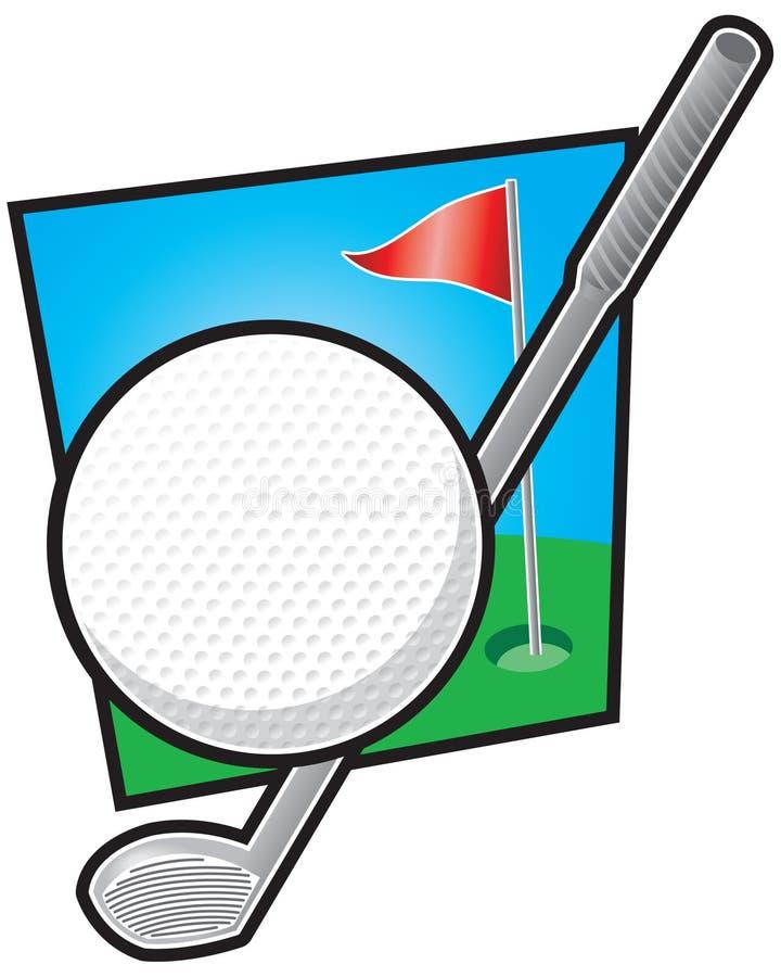 Equipamento de golfe ilustração royalty free